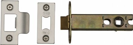 M Marcus York Security YKAL5-SN&SC Architectural Mortice Latch 127mm Satin Nickel/Chrome